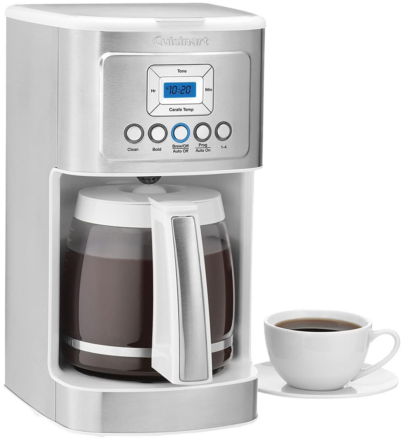 Cuisinart coffee maker stainless steel carafe - Amazon Com Cuisinart Dcc 3200 14 Cup Glass Carafe With Stainless Steel Handle Programmable Coffeemaker White Kitchen Dining