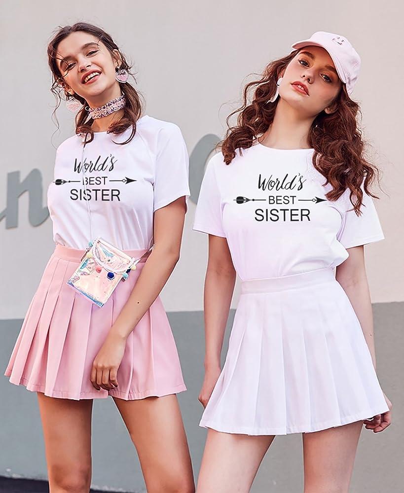 Mejores Amigas Camiseta Best Friend Shirt Impresión Best Sister 100% Algodón 2 Piezas T-Shirt Manga Corta Tumblr Moda Dulce Casual Graphic Print para Mujer Mujeres(Blanco+Blanco,XL+XL): Amazon.es: Ropa y accesorios