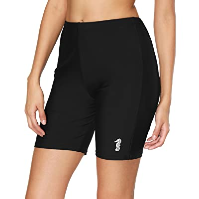 ALove Women Swim Capris Sun Protection Swim Leggings High Waist Surfing Tights at Women's Clothing store