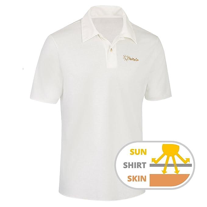 Tanmeon Tan Through Polo Shirt Men Sun Through Polo Shirt No More