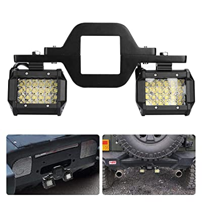 """ACT Sport 3"""" Tow Hitch Mounting Bracket Universal Tube Clamps Trailer Mount Kit for LED Backup Reverse Lights Rear Search Lighting Off Road Lights LED Work Lamps for Trailer Truck SUV RV: Automotive [5Bkhe2002278]"""