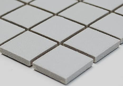 Rete mosaico mosaico quadrato piastrelle tinta unita grigio