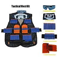 Camkey Kit de Chaqueta Chaleco Táctico de Los Niños para Nerf Gun N-Strike Elite Batalla