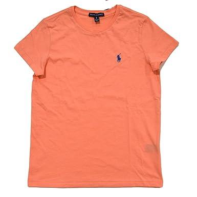 111d0598555 RALPH LAUREN Women Crew Neck Ribbed Pony Logo T-Shirt at Amazon Women s  Clothing store