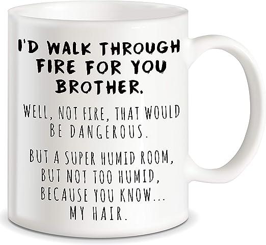 TWIN Gift Funny Trump Mug Best Birthday Christmas Humor Family Brother Sister