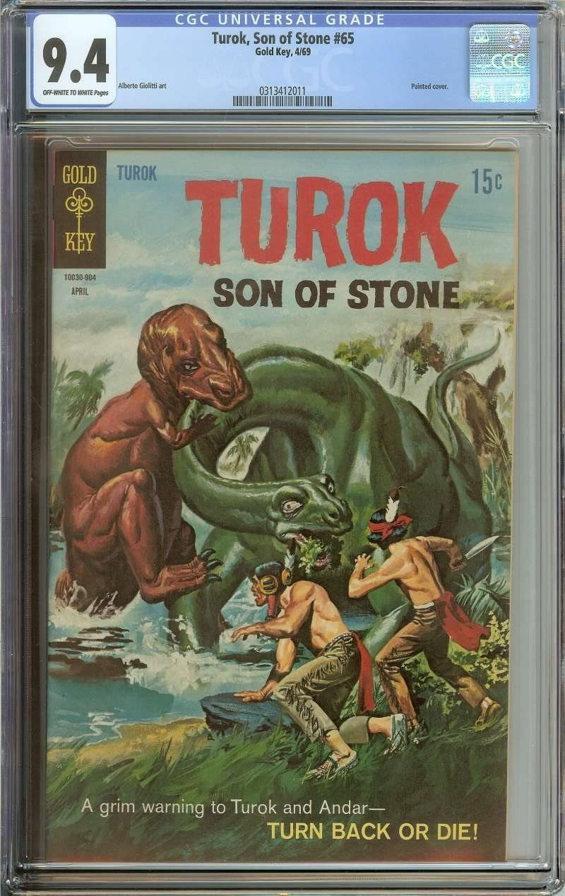 Amazon Com Turok Son Of Stone 65 Cgc 9 4 Ow Wh Pages Entertainment Collectibles