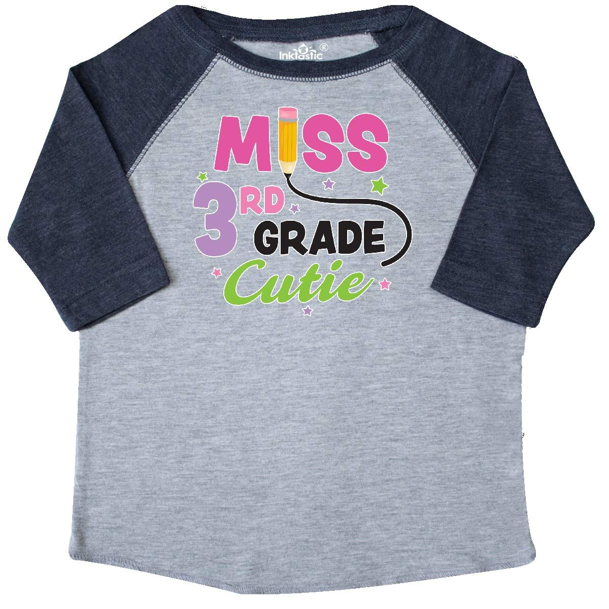 inktastic Miss 3rd Grade Cutie with Pencil and Stars Toddler T-Shirt