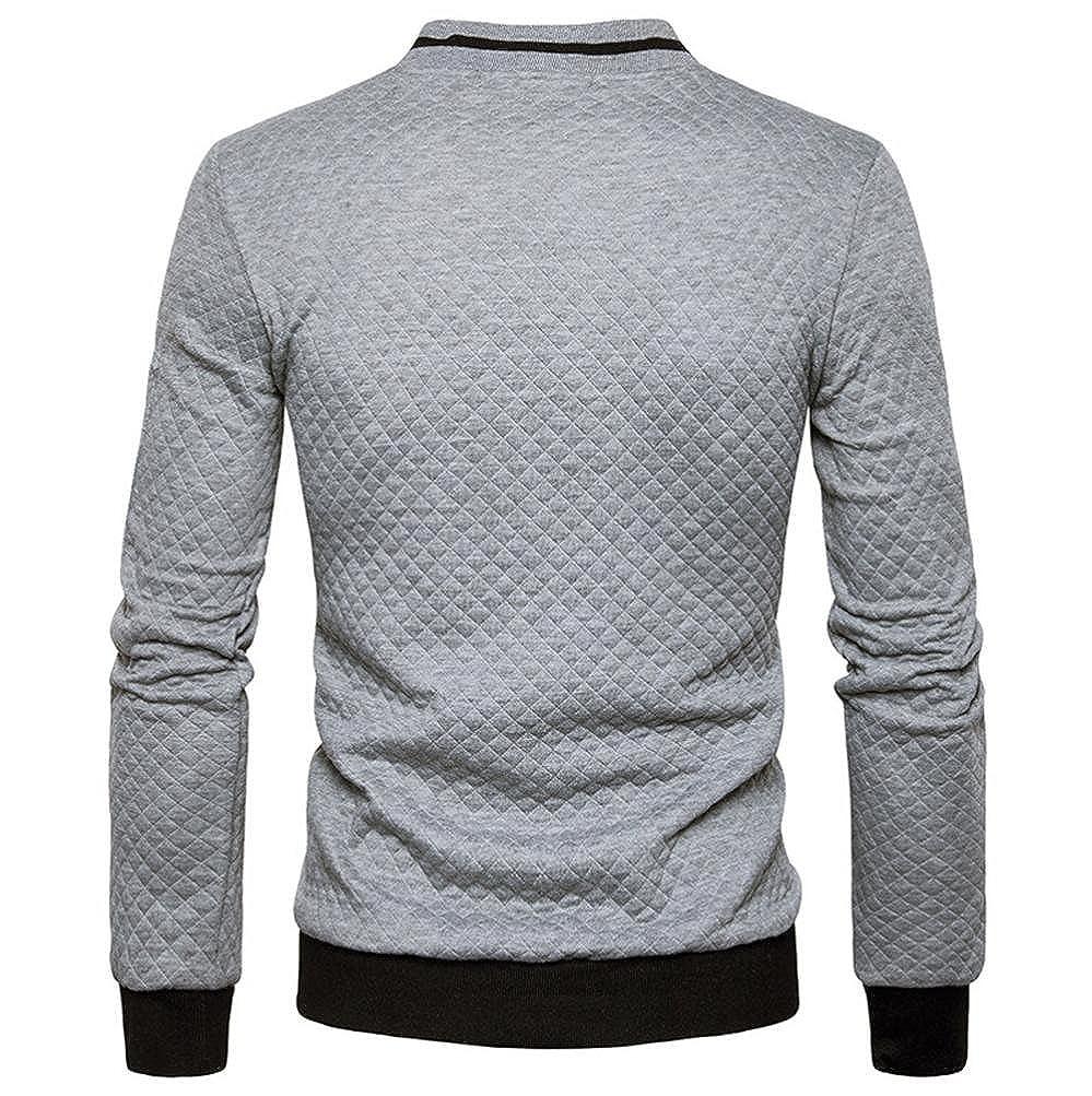 Chaqueta Hombre con Cremallera de Abrigo, ♚Btruely Herren Blusa Hombre Sudadera de Tartán Cárdigan Sudadera de Manga Larga Camisa Camiseta de Otoño Blusa ...