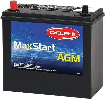 Delphi BU905P MaxStart A.G.M. Premium Automotive Battery, Group Size 51P