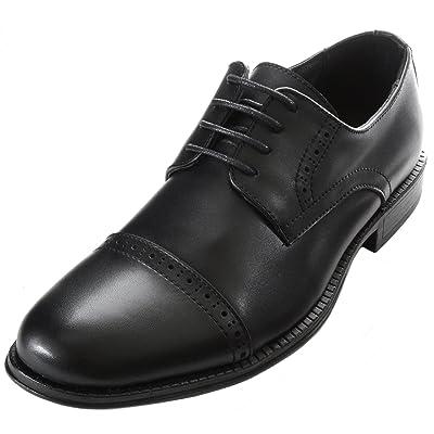 alpine swiss Arve Mens Genuine Leather Lace up Oxford Dress Shoes Brogue Cap Toe   Oxfords