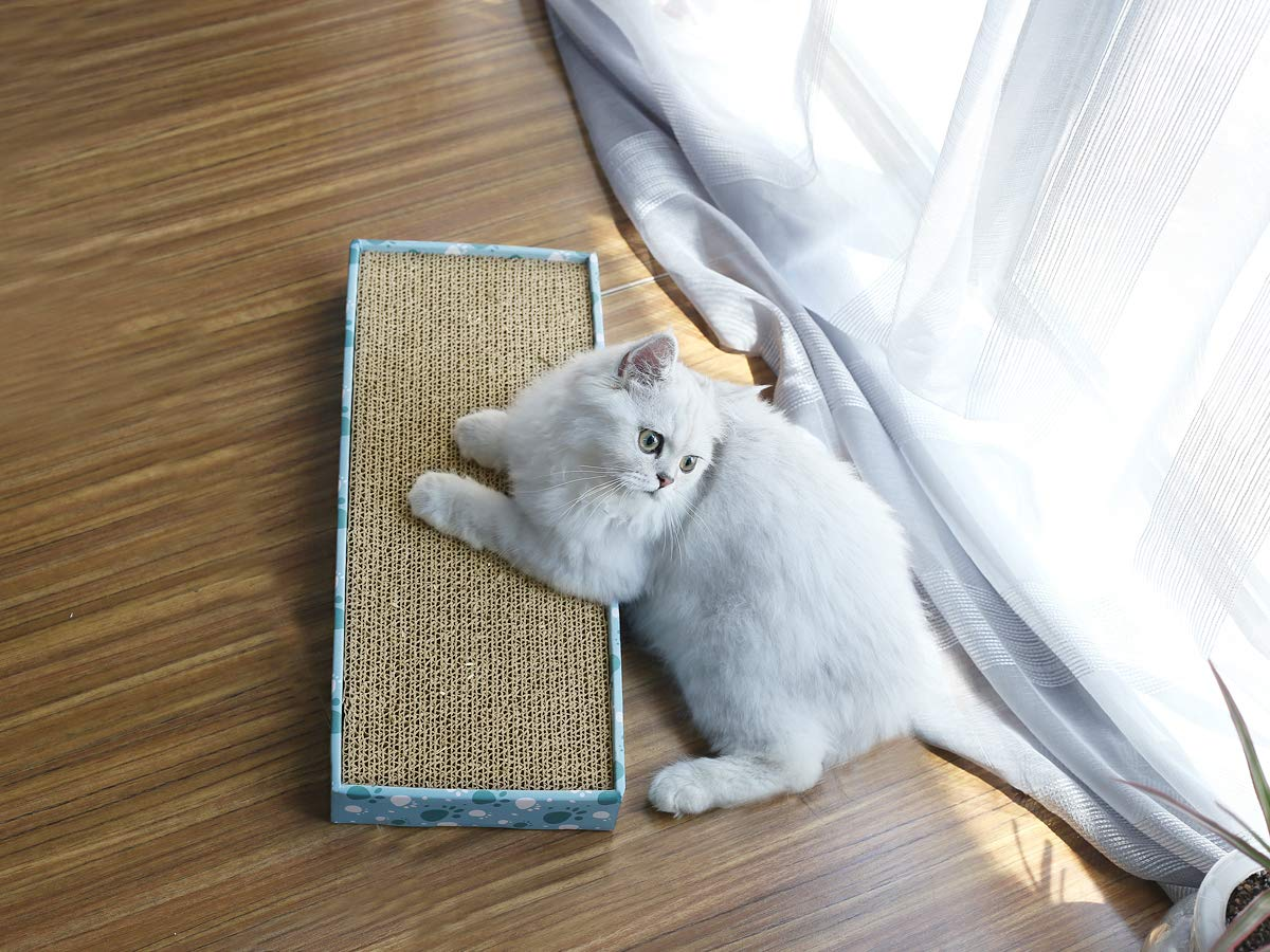 Vivaglory Reversible Cat Scratcher Cardboard With Box Cat