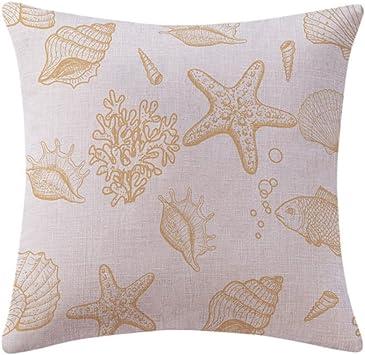 Imagen deLYFLYF Fundas De Almohada Decorativas Funda De Cojín Sofá Throw Cotton Linen Home Decor 45 * 45cm (Juego De 2),6