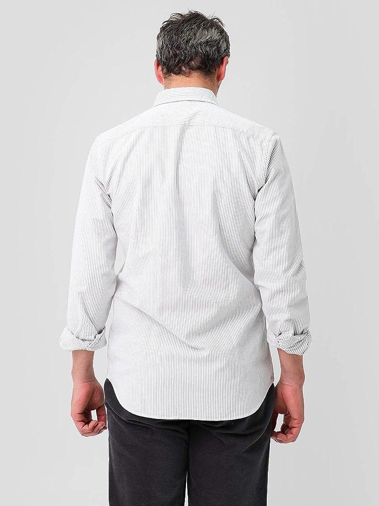 Scalpers Camisa Rayas Oxford - Khaki Stripes / 41: Amazon.es: Ropa y accesorios