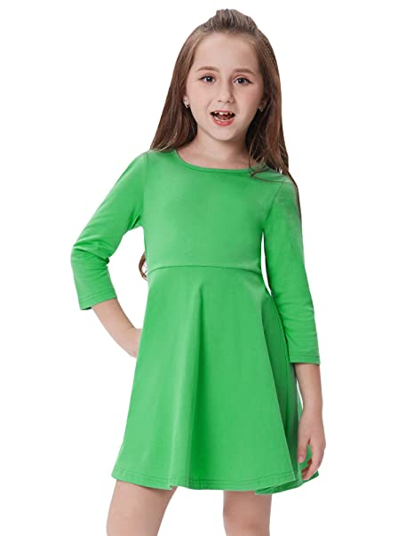 c96400055 GRACE KARIN Vestido Mangas Largas de Invierno Otoño Algodón Vestido de  Camiseta para Niñas Bebés 18Meses-12Años