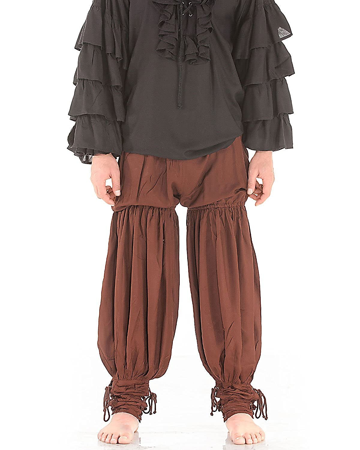 Deluxe Adult Costumes - Historically accurate Medieval Renaissance chocolate pirate swordsman pants by ThePirateDressing