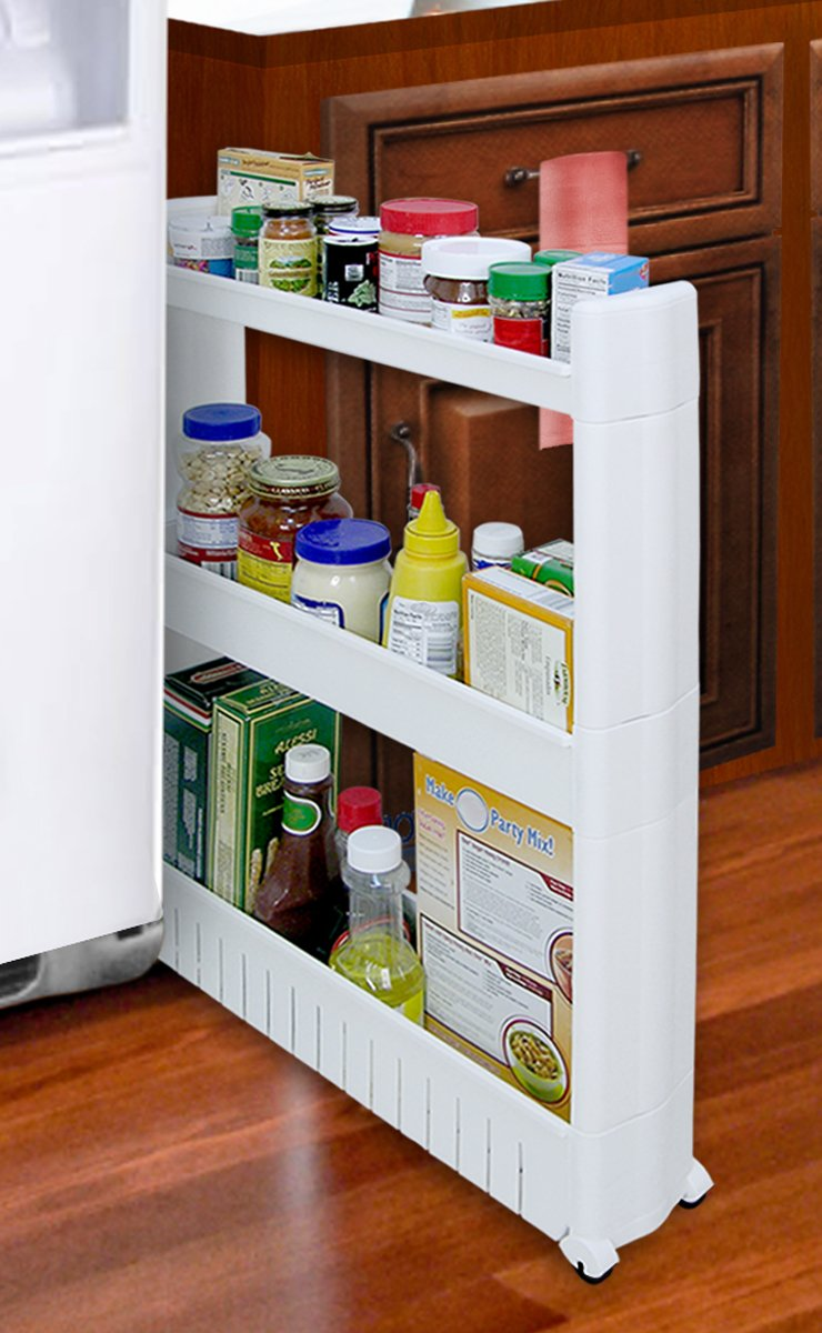 Pull Out Kitchen Storage Amazoncom Storage Dynamics Jb6032 Slide Out Storage Tower Food