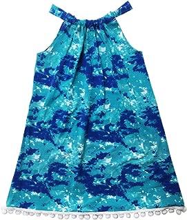 product image for Esme Girl's Beachwear Halter Dress with Pom Pom