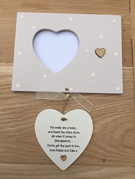 Handpainted Shabby Chic Style Personalised Grandparents Gift Nanny ...