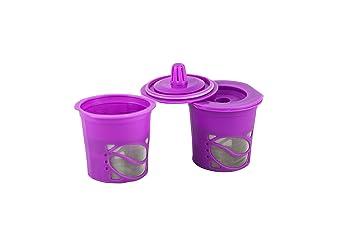FILL n máquina de café vasos reutilizables (2 Count pack de 1 morado