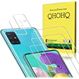 QHOHQ 3 Pack Screen Protector for Samsung Galaxy A51 4G / 5G / 5G UW with 2 Pack Camera Lens Protector,Tempered Glass Film, [