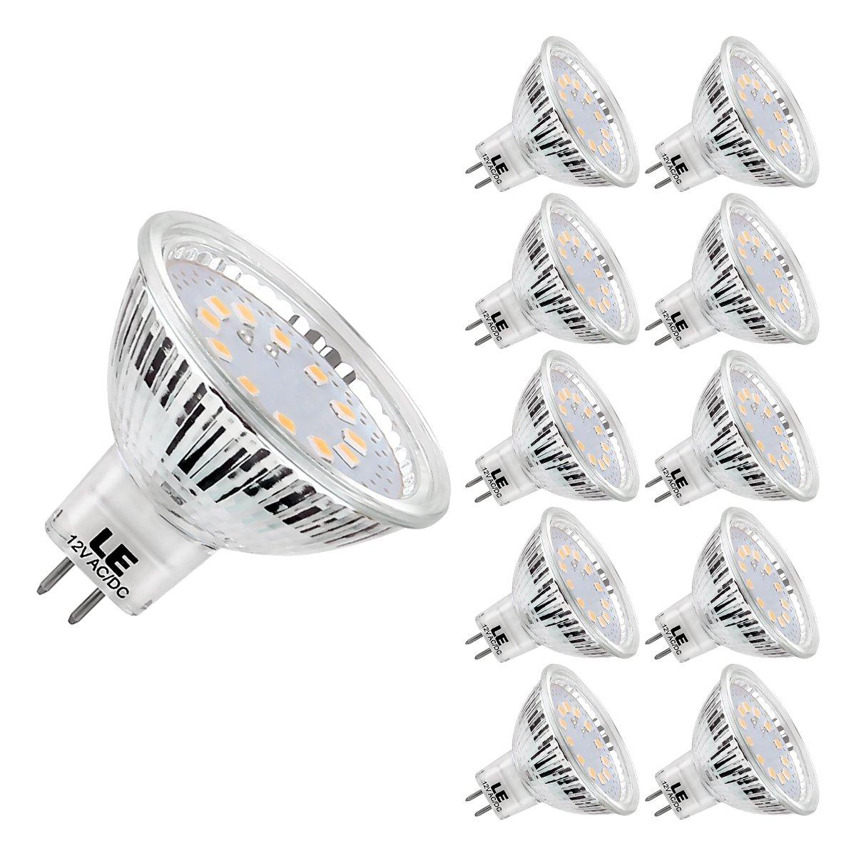 LE Bombillas GU5.3 LED 3,5W=35W Halógena 280lm, Blanco cálido 2700K, Pack de 10 bombillas LED GU5.3: Amazon.es: Iluminación