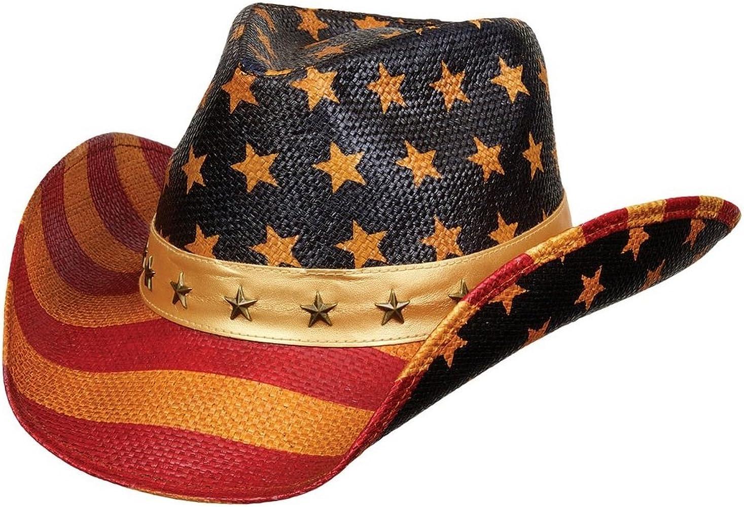 NYfashion101 Classic Vintage USA la bandera americana patriótico Cowboy Sombrero de vaquera - - : Amazon.es: Ropa y accesorios