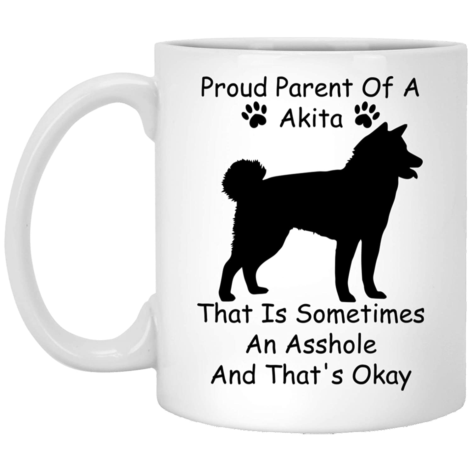 Amazon.com : Funny Akita Gifts for Women Dog Moms Pup Owners Dog Lovers Sarcastic Birthday for Her White Ceramic 11 Oz : Sports & Outdoors