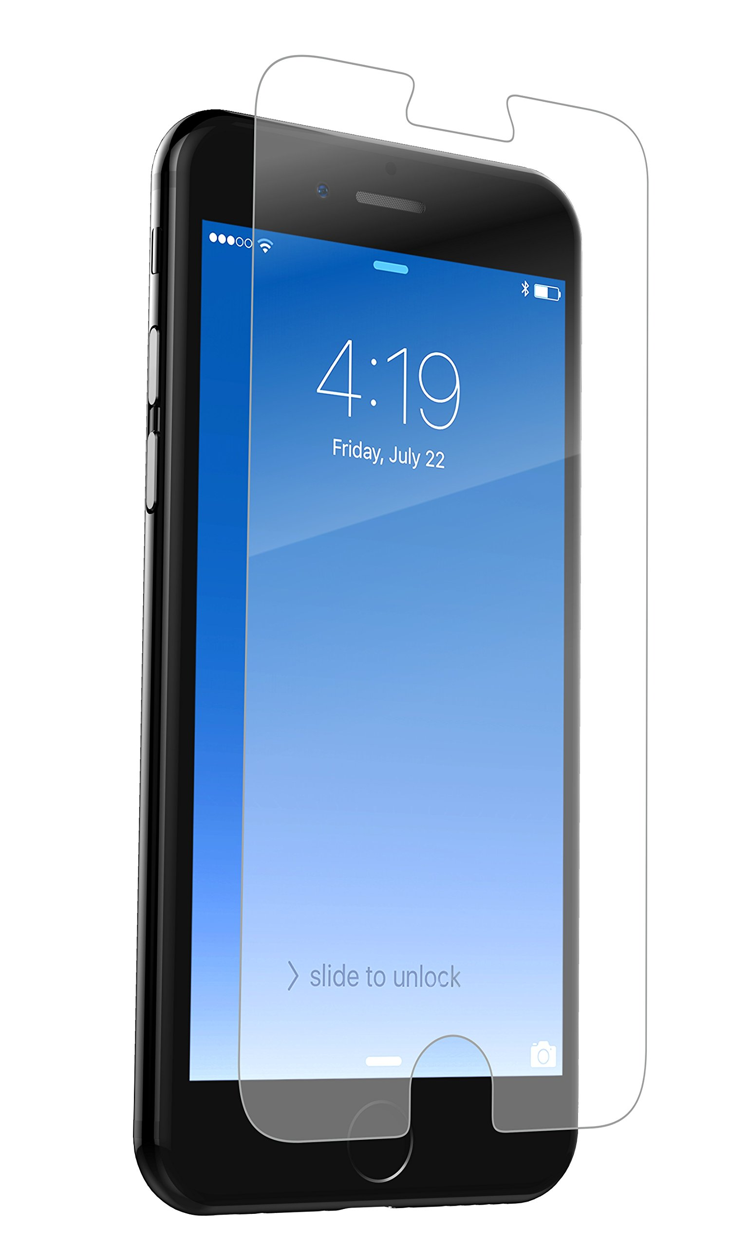 ZAGG InvisibleShield Glass+ Screen Protector - Made for Apple iPhone 8, iPhone 7, iPhone 6s, iPhone 6 - Extreme Impact and Scratch Protection - Seamless Touch Sensitivity - Clear by ZAGG