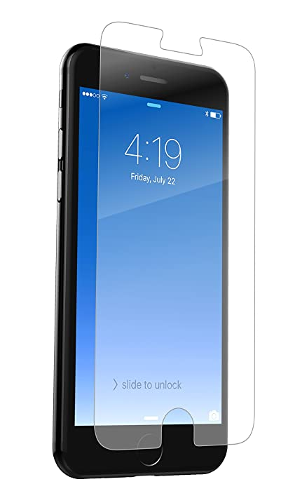 ZAGG IP7LGC-F00 InvisibleShield Glass+ Screen Protector – Fits iPhone 8, iPhone 7, iPhone 6s, iPhone 6 – Extreme Impact & Scratch Protection – Easy to Apply – Seamless Touch Sensitivity