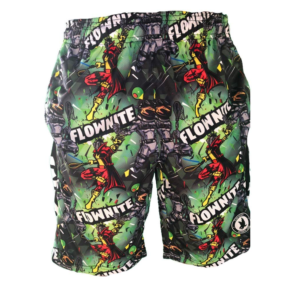 Flow Society Boys Flownite Attack Shorts Green