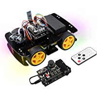 Freenove 4WD Car Kit with RF Remote (Compatible with Arduino IDE), Line Tracking, Obstacle Avoidance, Ultrasonic Sensor…
