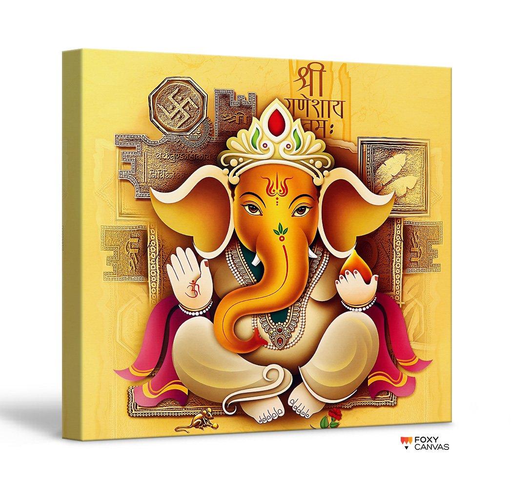 Amazon.com: FoxyCanvas Lord Ganesh Ganpati Hindu God Ganesha Giclee ...