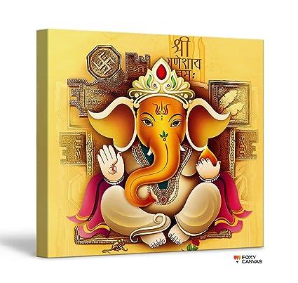 Ganpati Canvas Painting Images