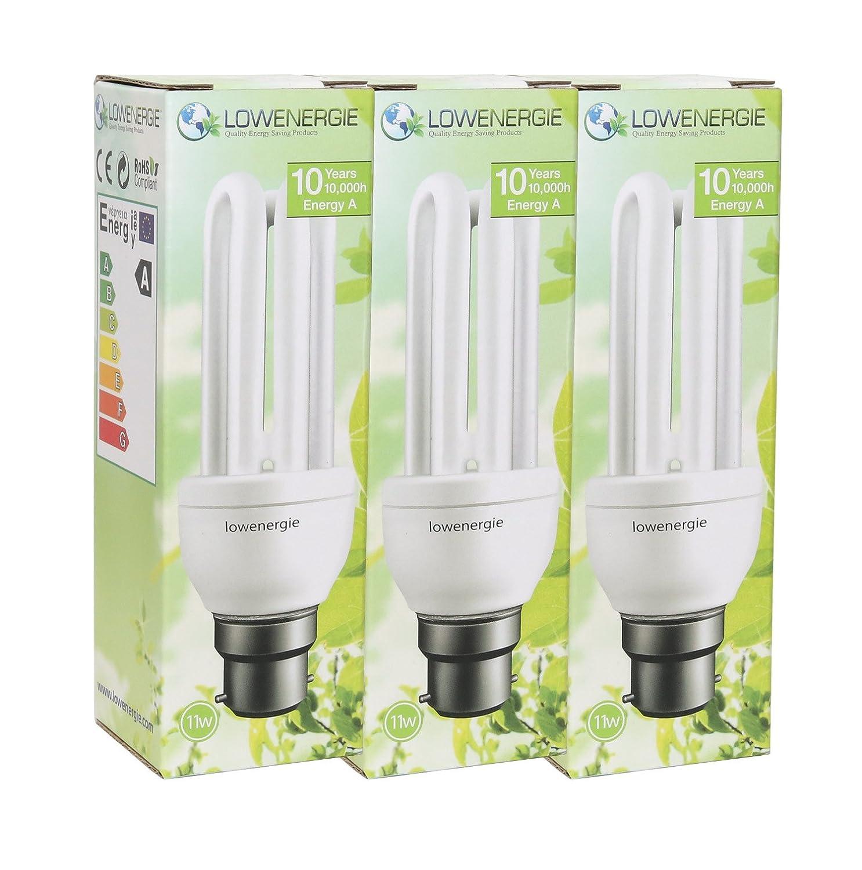 Lot de 311W (= 60W) Blanc jour 6500K économie d'énergie ampoules CFL, E27à culot à vis, Stick, 10ans en Lowenergie E27à culot à vis 10ans en Lowenergie