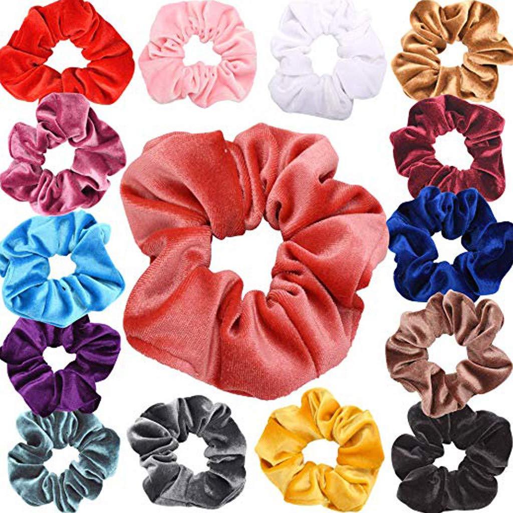 ZahuihuiM 40/20/15/9 PCS Anneau de Cheveux Bandeau Femmes ou Filles Scrunchy Cravates Cheveux Chouchou Accessoires Chouchou Accessoires Velours