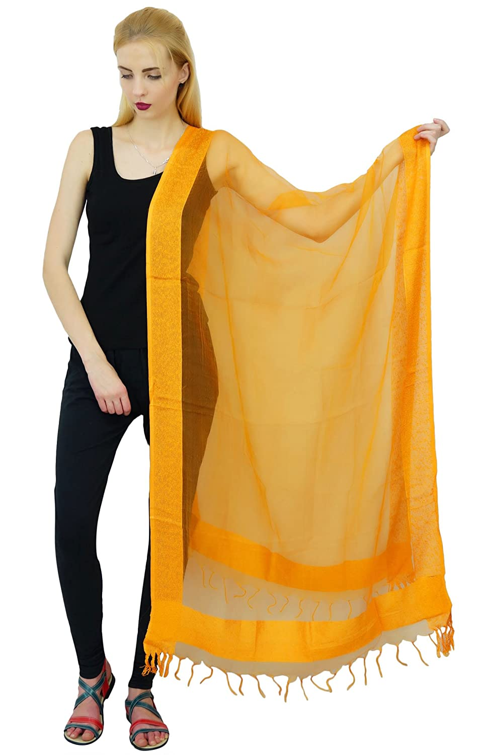 Tissue Long Dupatta Neck Wrap Hijab Summer Scarves Chunni Stoles