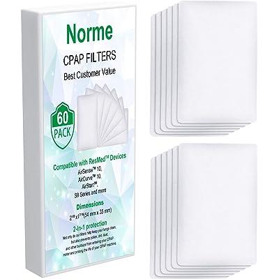 60 filtros desechables de 54 x 35 mm compatibles con la mayoría de filtros del mismo tamaño