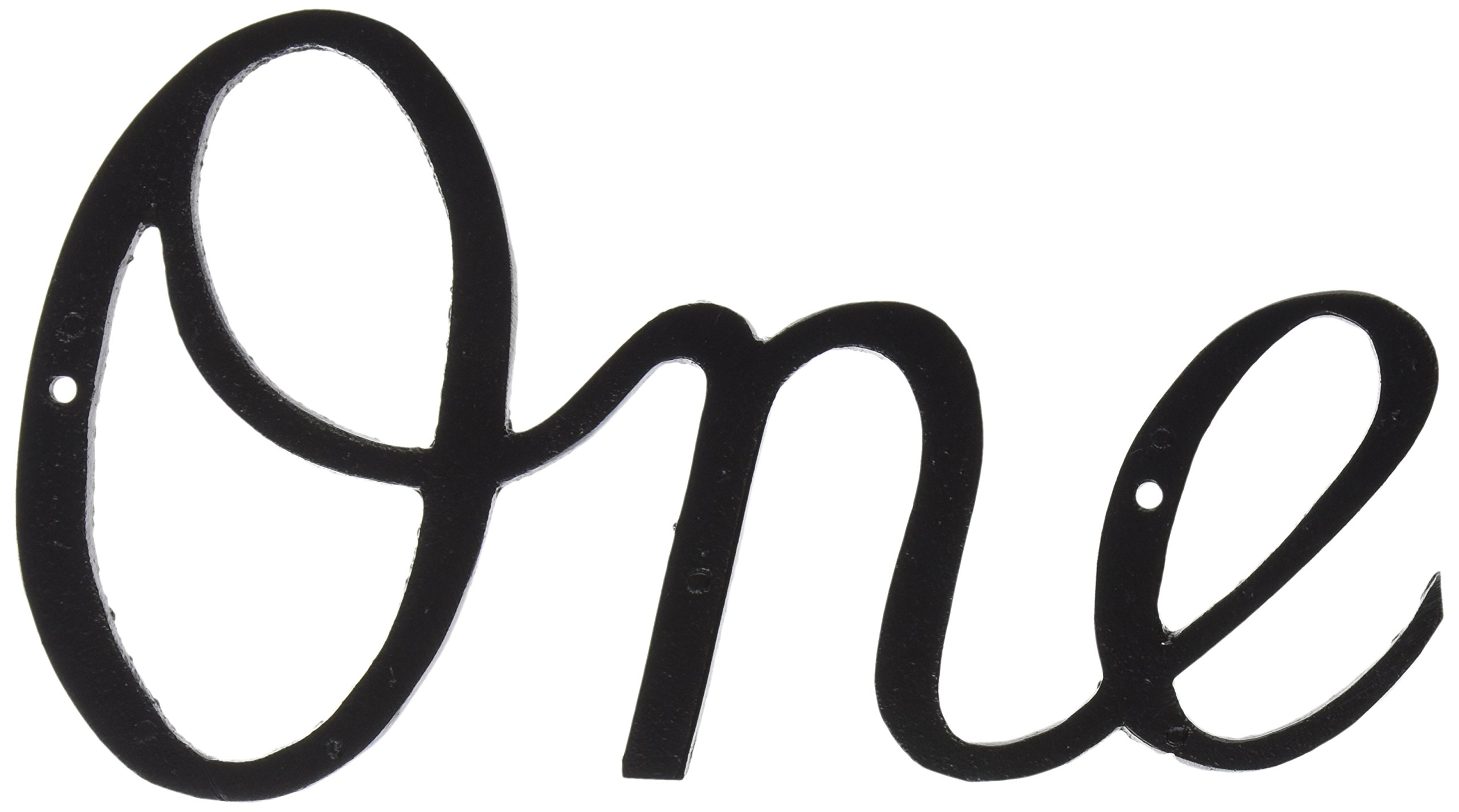 Montague Metal Products Large Script House Number, One
