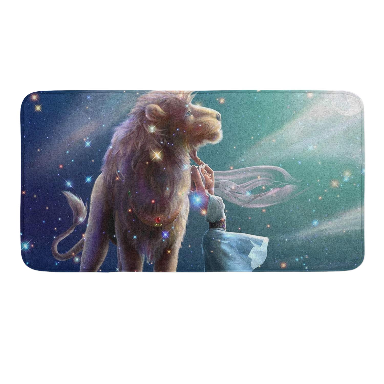 CIGOCI Anti-Slip Memory Foam Bath Mat Shower Rugs - Zodiac Lions Leo - 18 x 36 Inch Absorbent Quick-Dry Floor Mat Carpets Home Decor Bathroom Tub Kichen Rugs