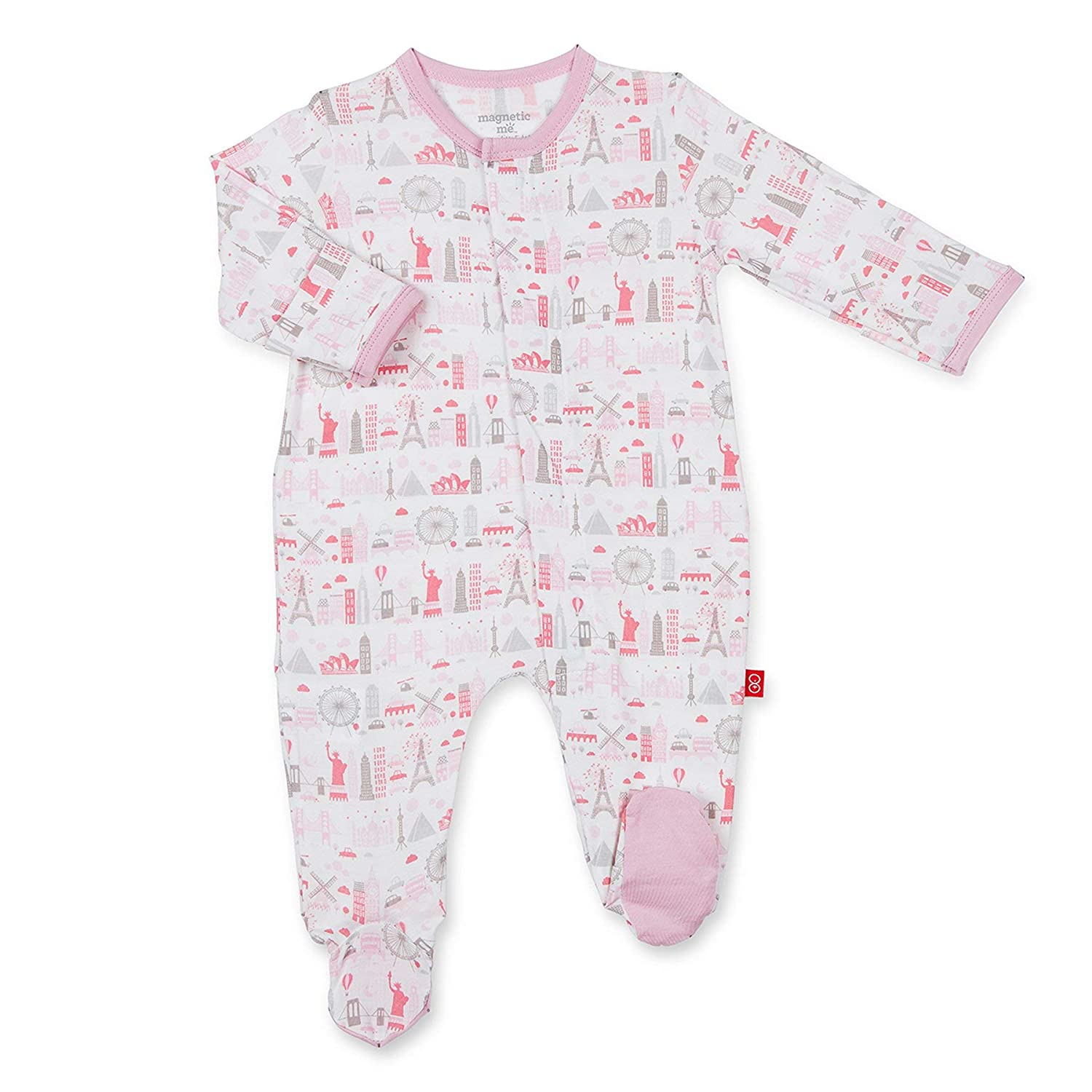 f3c871eb1 Amazon.com: Magnetic Me by Magnificent Baby Modal Magnetic Fastener Footie:  Clothing