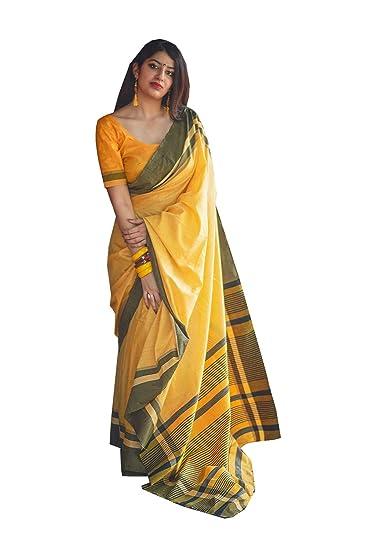 04b51a474961 Indian Sarees for Women Wedding Designer Party Wear Traditional Yellow Sari.:  Amazon.co.uk: Clothing