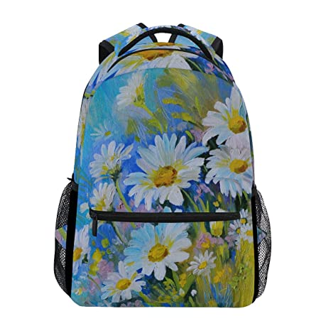 Travel Bag Daisy Flower Waterproof Large Capacity Portable Luggage Bag