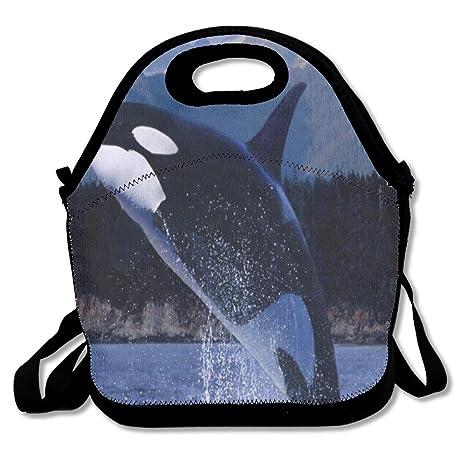 Amazon.com: Orcas en el mar bolsa de almuerzo Bolsas ...