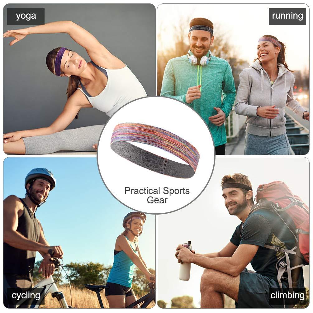 VBIGER Cinta de Pelo Deportiva para Hombres y Mujeres,Banda de Pelo para Yoga Correr Ciclismo Deporte en el Gimnasio,3 Piezas