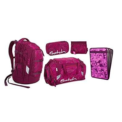 55567d2b27450 Satch Pack Purple Leaves Schulrucksack Set 5tlg. Beauty   The School ...