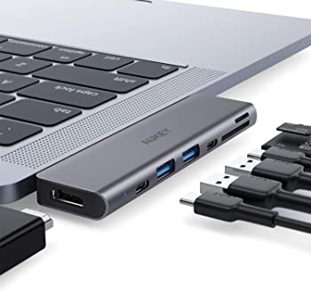 Aukey 7-in-1 USB-C Hub for MacBook Pro and MacBook Air
