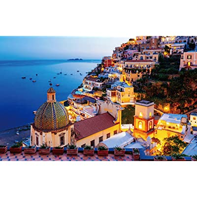 1000 Pieces Puzzles Thicken Cardboard Jigsaw Puzzles Floor Puzzle for Adults Kids Teen - Amalfi Coast: Toys & Games