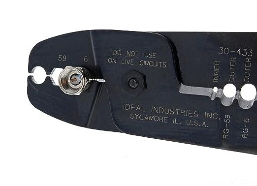 Ideal 30-433 Coax Strip and Crimp Tool