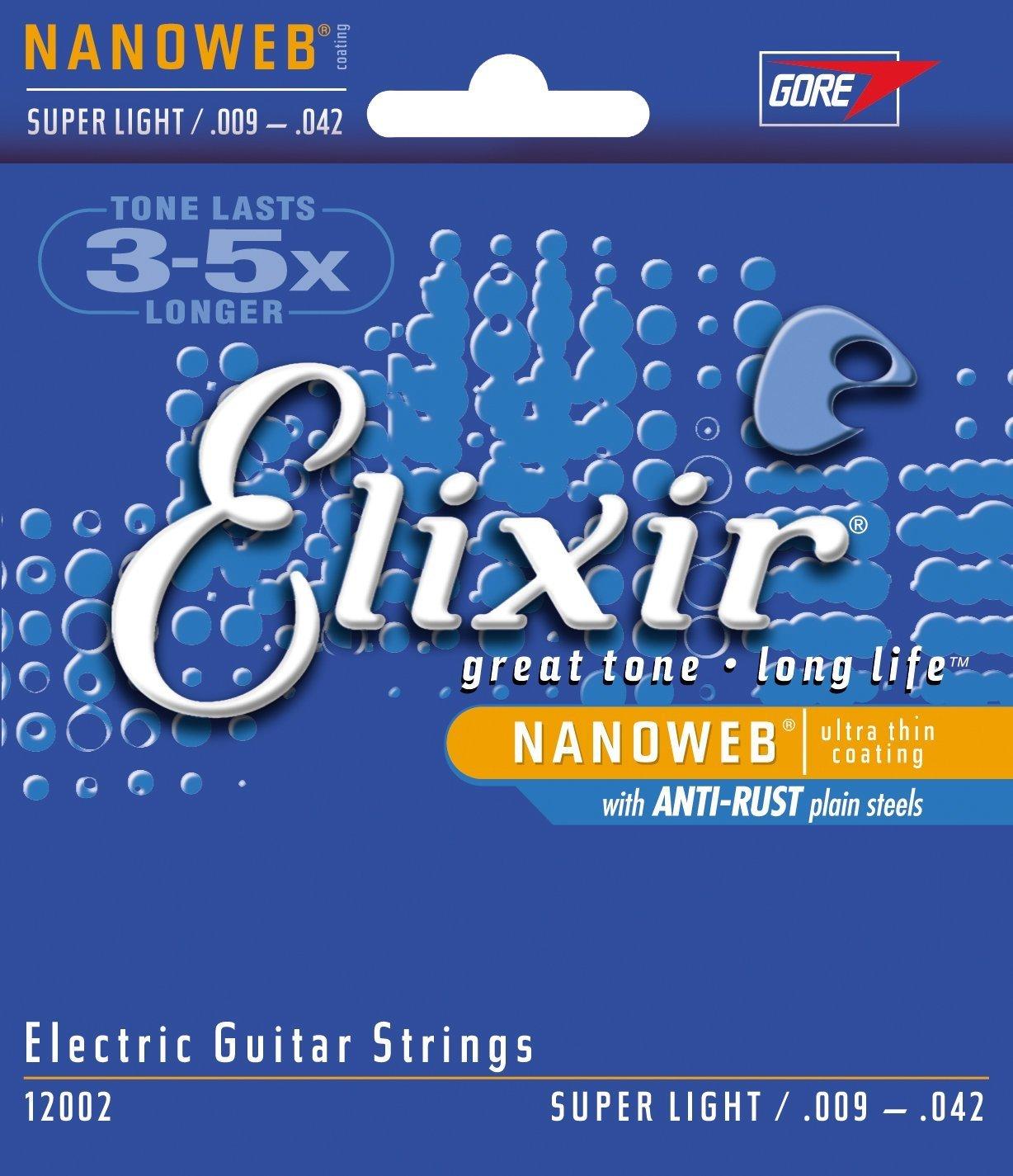 Elixir Nanoweb Revestimiento cuerdas para guitarra eléctrica: Amazon.es: Instrumentos musicales