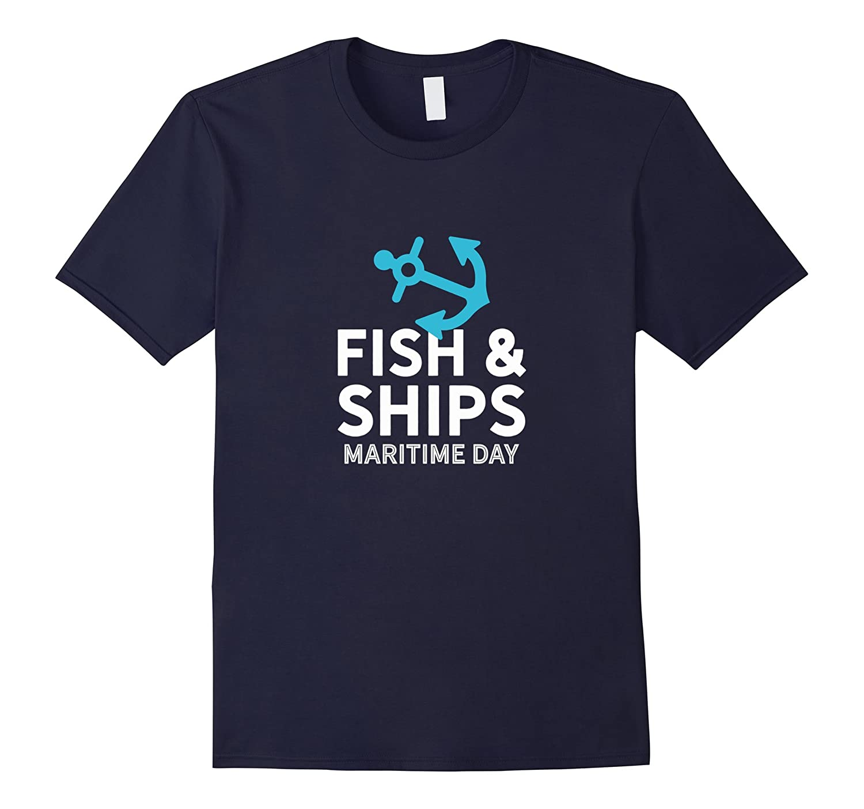 Anchor Fish And Ships Maritime Day - Nautical Maritime Tee-BN